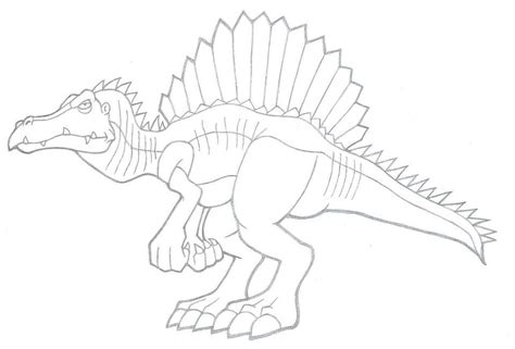 spinosaurus coloring pages    print
