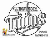 Coloring Minnesota Pages Baseball Twins Sports sketch template