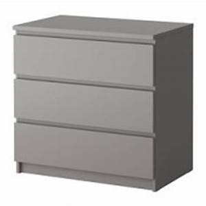 Commode Grise Ikea : malm commode 3 tiroirs gris ikea france ikeapedia ~ Melissatoandfro.com Idées de Décoration