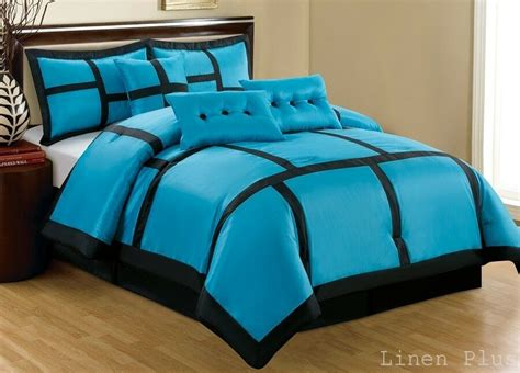 Black And Aqua Bedding by 15 Turquoise Black Patchwork Comforter Curtain Set