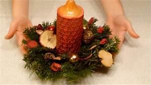 Adventsgestecke Selber Machen : weihnachtsgestecke selber basteln youtube ~ Frokenaadalensverden.com Haus und Dekorationen