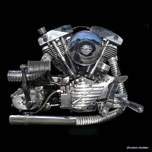 No 12  Classic Harley Davidson Shovelhead Engine