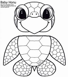 Paper bag honu green sea turtle puppet mfw k unit 06 for Tiger puppet template