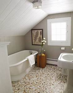 To da loos slanted ceiling bathrooms for Small attic bathroom sloped ceiling