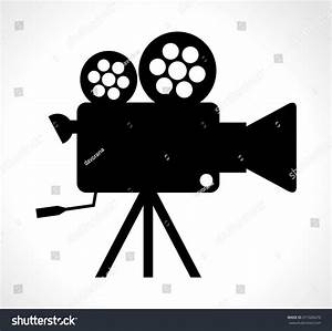 Old Technology Device Cinema Video Camera Stock Vector ...