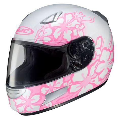 ladies motorcycle helmet black pink white
