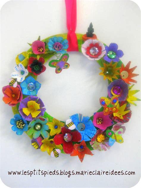 couronne de p 226 ques decoration paques bricolage enfant et recyclage