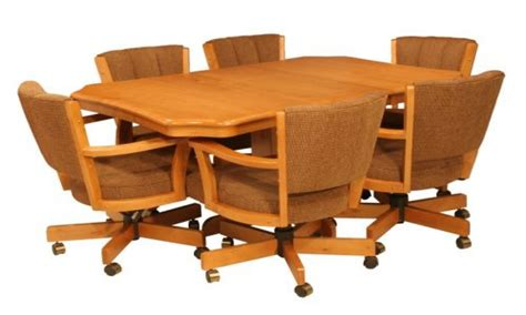 rolling dining room chairs dining room sets  caster