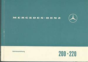 Mercedes 200 220  8 Operating Instructions 1967 Manual W115