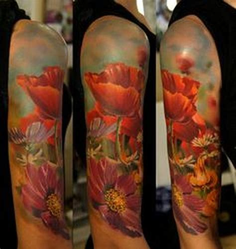 awesome sleeve  shoulder tattoo ideas