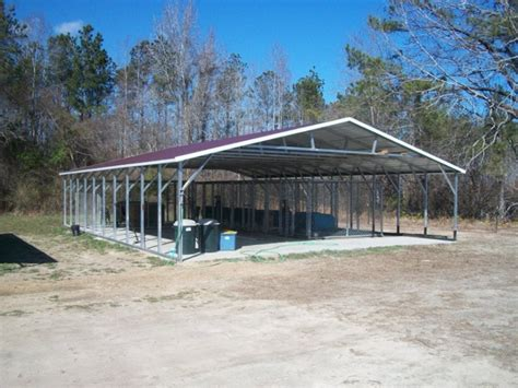 carport vertical roof 30w 41l 6h triple wide