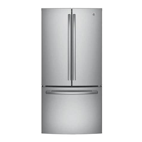 GE 33 in W 248 cu ft French Door Refrigerator in