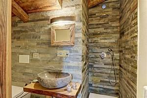Foto: Baño con Pared y Lavabo Piedra de Marta #954751 Habitissimo
