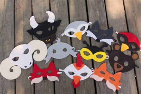 faschingsmasken basteln schoene tiermasken mit kindern