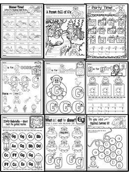 pre kg alphabet worksheets letter gg printables tracing