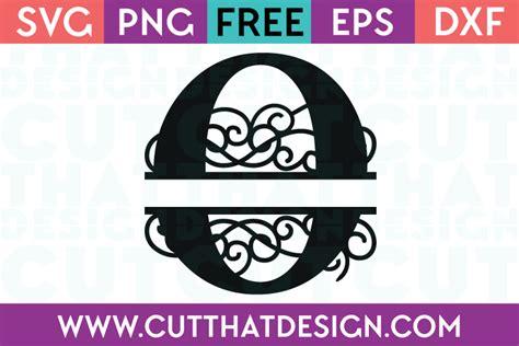 svg files  svg flourish swirl split monogram letter  cut  design