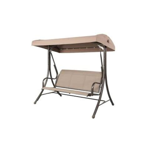 patio swings with canopy home depot steel solar lit patio swing gss00005j the home depot