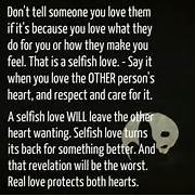 Selfish Love