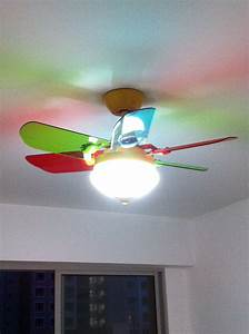 Nursery ceiling light girl fans with