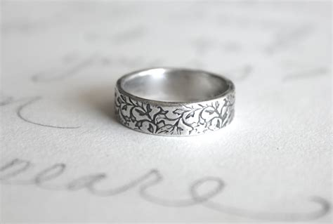 mens wedding band ring simple silver wedding ring always
