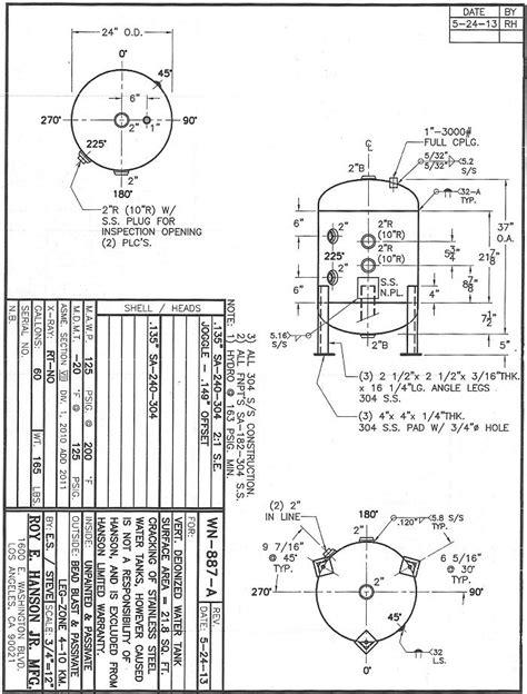 Hydropneumatic Non-Bladder Tank Size Calculator