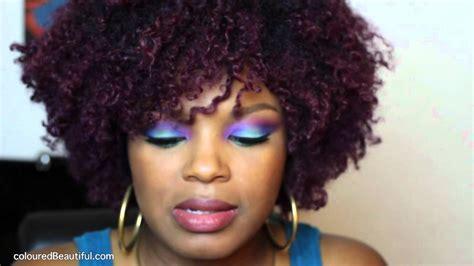 Purple Hair Color Natural Hair Youtube