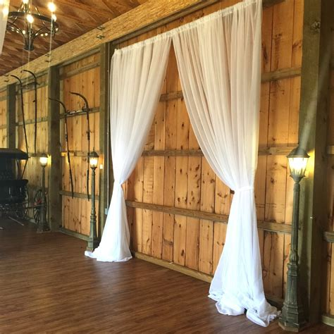 Drapes Rental - 8 by 10 sheer pipe drape backdrop price rentals events