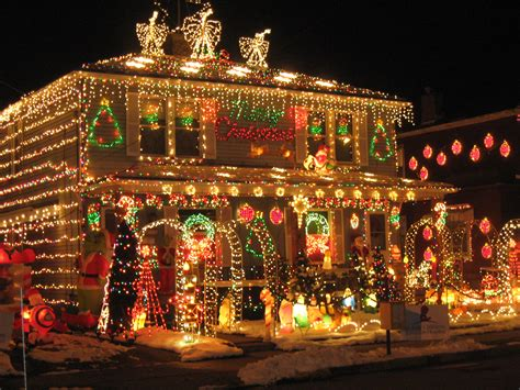 Beautiful Christmas Lights On Houses  Happy Holidays