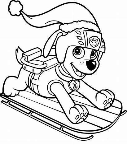 Mighty Pups Patrol Paw Coloring Pages Colouring