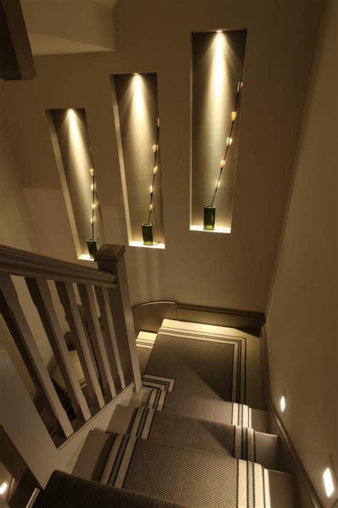 Treppenhaus Beleuchtung Wand by Moderne Schicke Treppen Beleuchtung Archzine Net