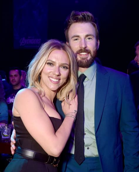 Pictured: Scarlett Johansson and Chris Evans | Avengers ...