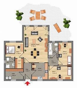 Modernes Haus Grundriss : grundriss bungalow 5 zimmer haus design und m bel ideen ~ Lizthompson.info Haus und Dekorationen