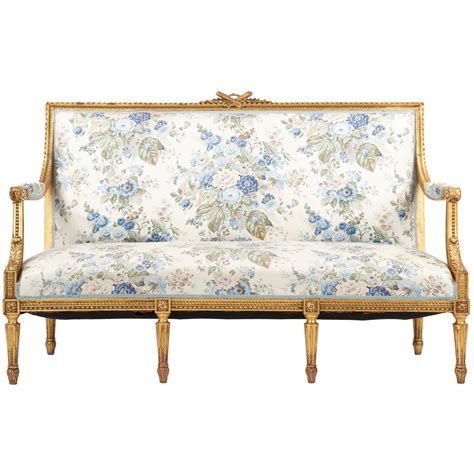 canap style vintage louis xvi style giltwood antique settee sofa canape