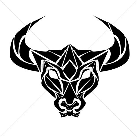 ox tattoo vector image  stockunlimited