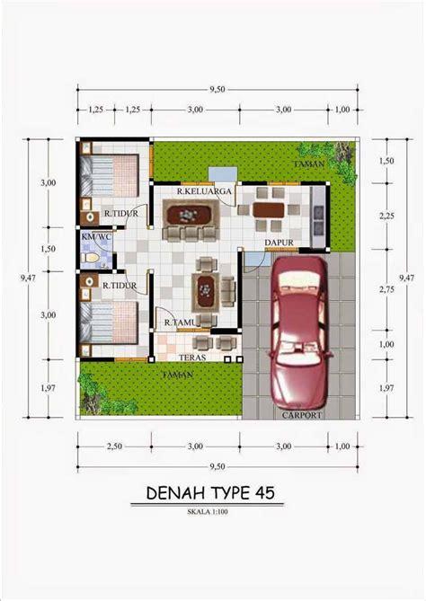 denah rumah minimalis type  desain sederhana