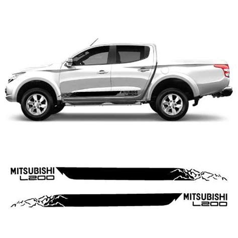 Mitsubishi Decal by Car Side Mitsubishi L200 Decals Set