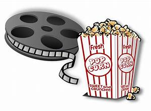 Movie clipart movie popcorn - Pencil and in color movie ...