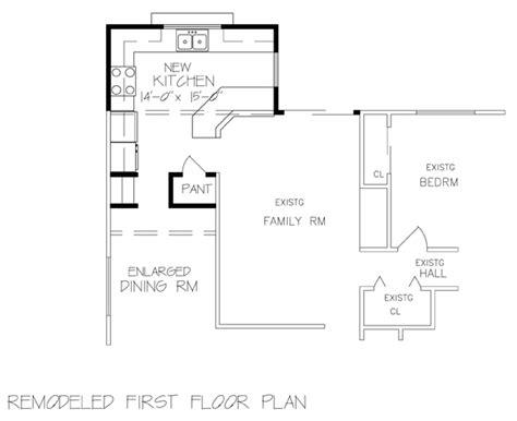 kitchen addition floor plans smart new kitchen kfd02 6232 the house designers 4967