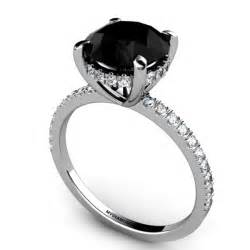 black wedding rings with diamonds all about black engagement rings black ring