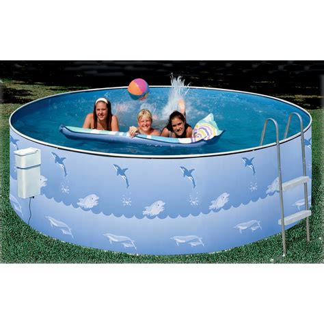 Heritage 15' Aqua Family Aboveground Swimming Pool Package
