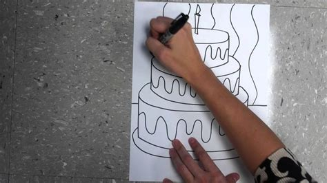 draw   birthday cake extension project youtube