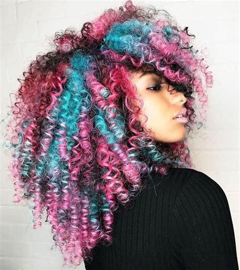 Best 25 Dyed Curly Hair Ideas On Pinterest Pastel Hair