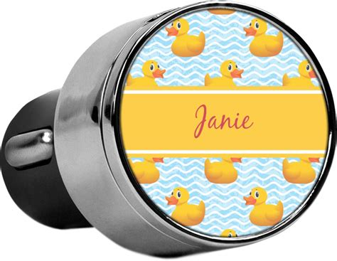 rubber duckie usb car charger personalized youcustomizeit