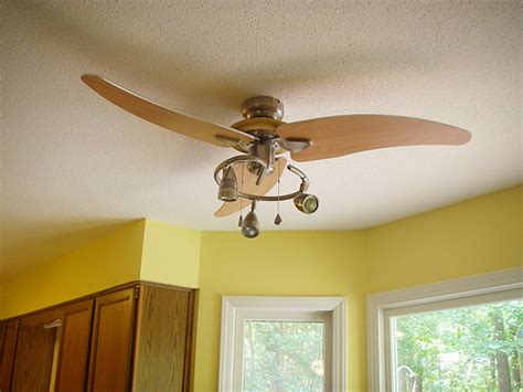 a overdue ceiling fan upgrade for the kitchen