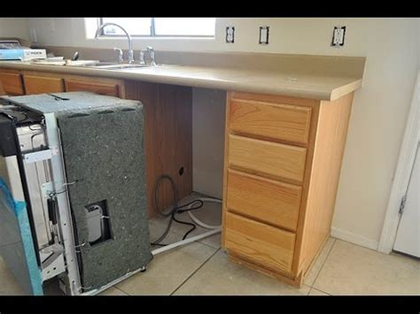 install a dishwasher in an existing kitchen cabinet dishwasher how to install a dishwasher in less than 1 hour 9853