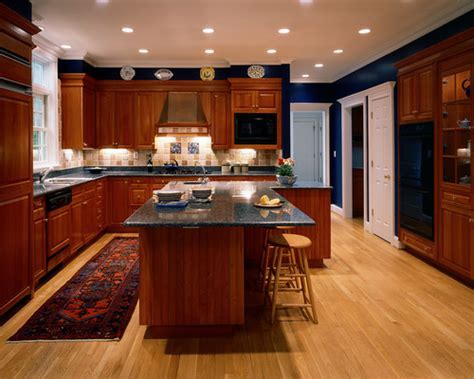 L Shaped Kitchen Stone Countertops Design Ideas