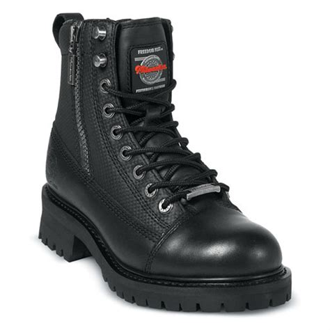 biker boots for 39 s milwaukee accelerator zip boots black 132399