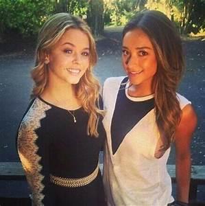 Sasha and Shay set PLL season 5 . Emison | Shay Mitchell ...