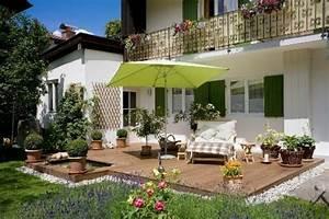 garten terrasse ideen beste garten ideen With französischer balkon mit wall im garten anlegen
