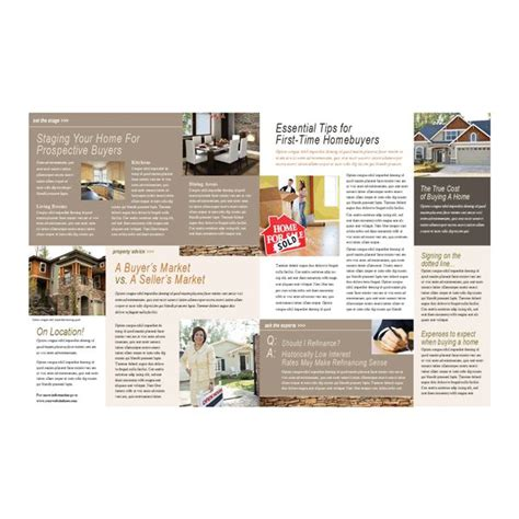 email newsletter templates real estate 8 great microsoft publisher newsletter templates